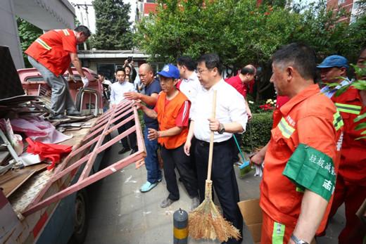 朝阳区开展环境卫生整洁行动,推进创卫工作进程